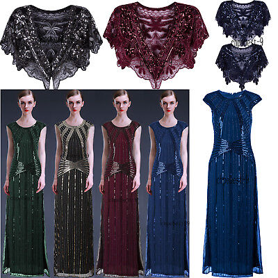 Evening Dresses 1920's Flapper Dress Wedding Gowns Party Cocktail Prom Plus Size - Flapper Dresses Plus Size