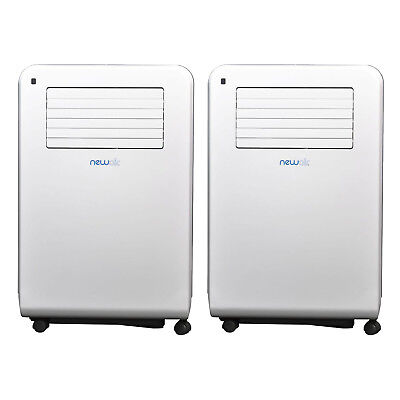 NewAir AC 12000 BTU Cooling Capacity Portable Air Conditioner, White (2 Pack)
