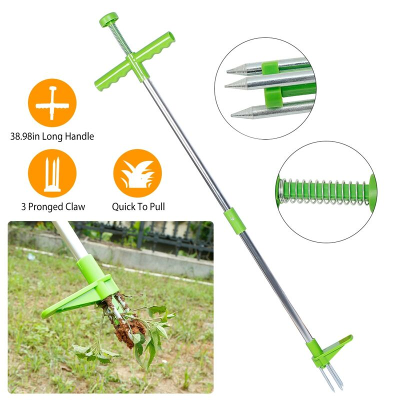 Weed Puller Twister Steel Claw Weed Remover Weeding Root Killer Garden Tool