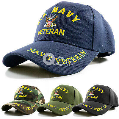 US Military Navy Veteran Adjustable Polo Baseball Cap Hat Army Marine Air Force