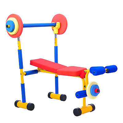 Fun and Fitness Exercise Equipment for Kids Weight Bench Set Toys Pretend Play