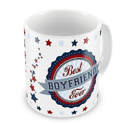 Best Boyfriend Ever Novelty Gift Mug - Blue / Red (Novelty Mug)