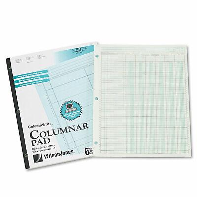 Wilson Jones Accounting Pad Six-unit Columns 8-12 X 11 50-sheet Pad G7206a
