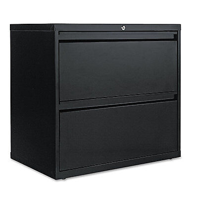 Alera Two-drawer Lateral File Cabinet 30w X 19-14d X 28-38h Black Lf3029bl