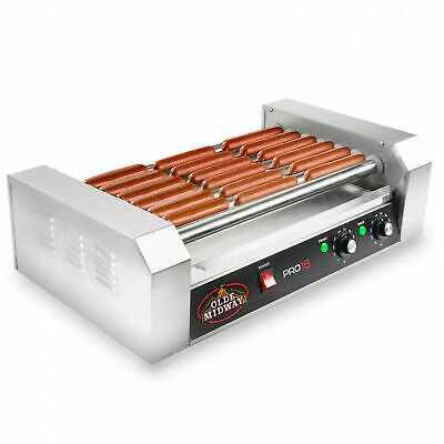 Commercial Electric 18 Hot Dog 7 Roller Grill Cooker Machine 900-watt Mke08241
