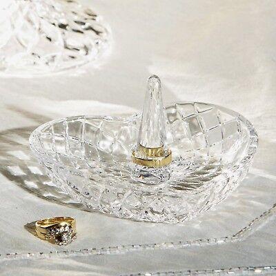 Crystal Heart Shape Ring Holder