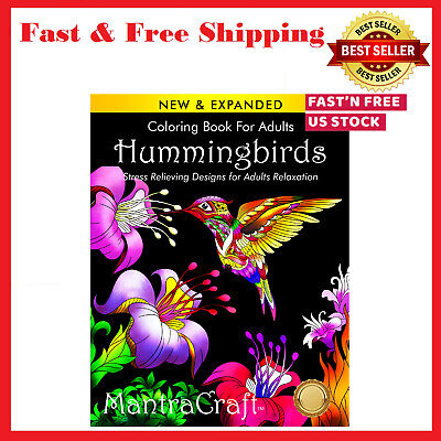 Adult Coloring Book Hummingbirds Stress Relieving Relaxation Coloring Designs
