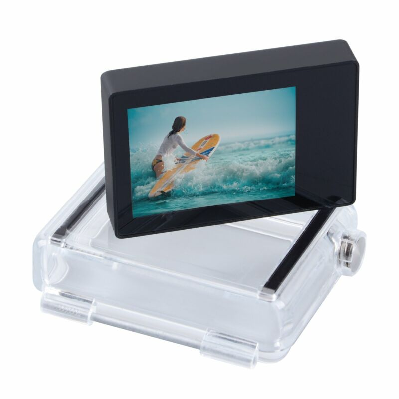 LCD Display Screen Bacpac Waterproof Housing Backdoor Cover for GoPro Hero 3+ 4