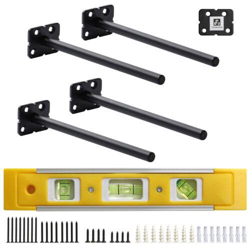 8 Inch Floating Shelf Brackets, 4 Pack Heavy Duty Hidden Shelf Supports Kit