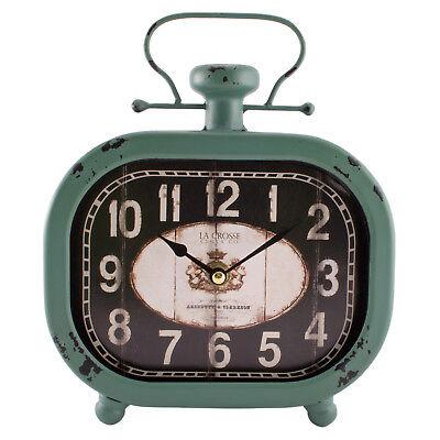 404-3425 La Crosse Clock Company Metal Square Decorative Analog Clock (Lacrosse Decorations)