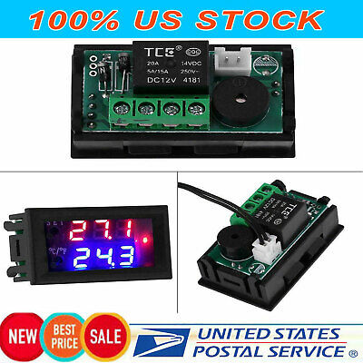 Xd-2048 Dc 12v Lcd Digital Thermostat Temperature Controller Meter Regulator 20a