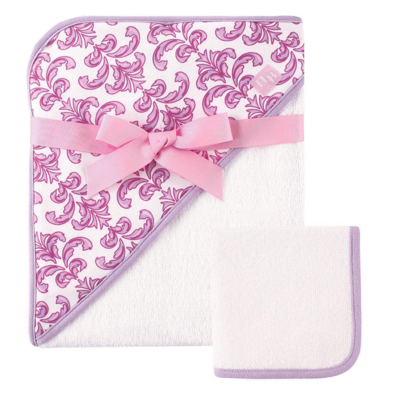 Baby Vision Hudson Baby Print Hooded Towel and Washcloth - B