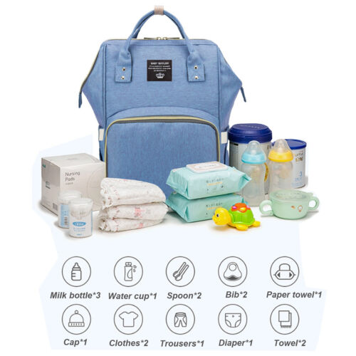 Diaper Bag Backpack Multifunction Travel Back Pack Maternity Baby Changing