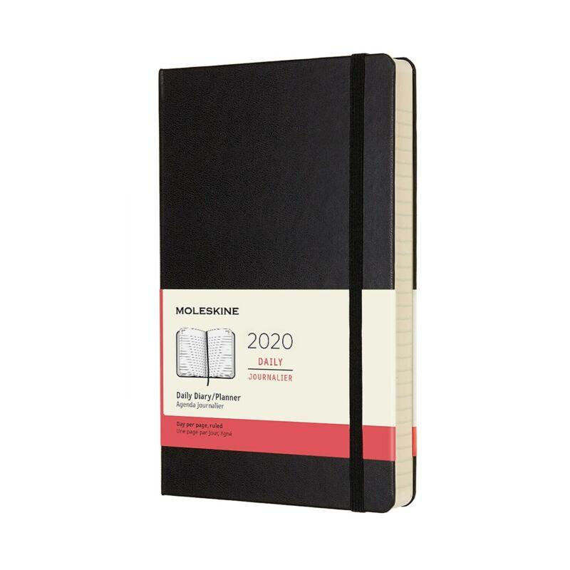 "Moleskine 2020 Daily Journal 5"" x 8.25"" Hard Cover Black (628721) 24390667"