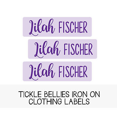 Iron-On Clothing Labels | Girls Personalized Fabric Labels | Kids Name - Personalized Childrens Clothes