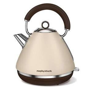 Morphy Richards Accents Sand Pyramid 1.5 Litre Kettle 3kW Stainless Steel 102101