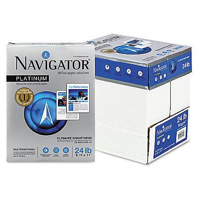 Navigator Platinum Paper 99 Brightness 24lb 8-1/2 x 11 White 2500/Carton 5 Reams X 500 Sheets