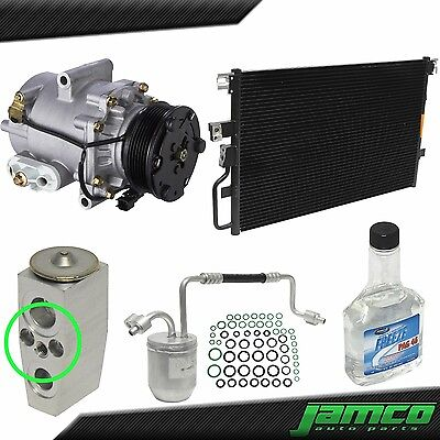 New AC Compressor Condenser Kit for 05 Chevy Equinox A/C - Single Stud Exp Valve