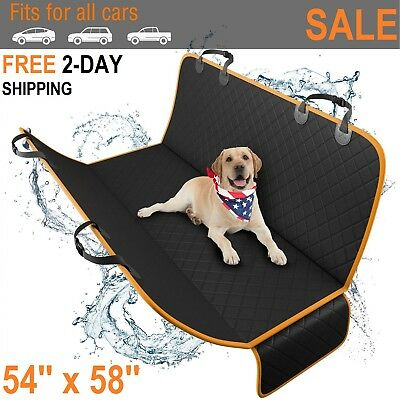 Luxury Dog Car Seat Cover Waterproof Hammock for Cat Pet SUV Van Back Rear Bench