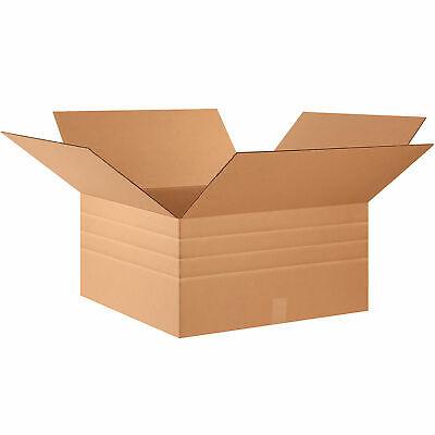 24 X 24 X 12 Multi-depth Cardboard Corrugated Boxes 65 Lbs Capacity