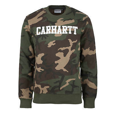 Carhartt Crew Sweatshirt (Carhartt College Sweat camo laurel Herren Crew Neck Pullover French Terry)
