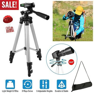 "45"" Portable Aluminium Travel Camera Tripod For Canon Nikon Sony DSLR+Carry Bag"