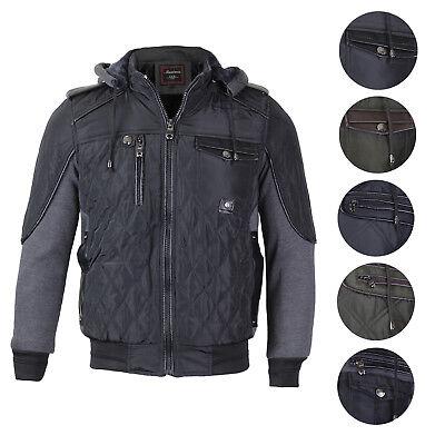 Slim Zip Fleece (Maximos Men's Hooded Zip Up Fleece Lined Sherpa Slim Fit Bomber Jacket 1699)