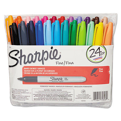 Sharpie Fine Point Permanent Marker Assorted 24set 75846