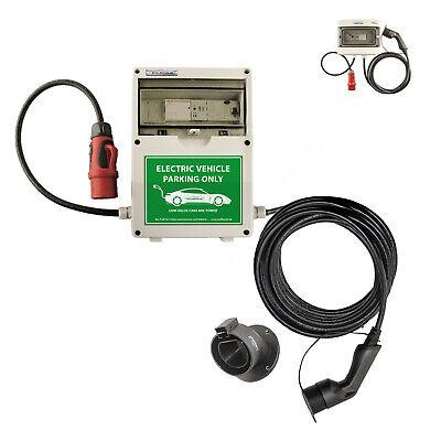 WB24 Wallbox 3 Phasig 400V 11kW 16A Typ 2 7m Ladestation mit Bluetooth für Elekt