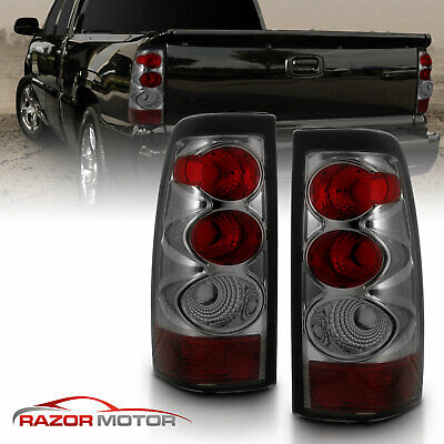 2003 2004 2005 2006 Chevy Silverado 1500/2500/3500 Smoke Tail Lights Pair