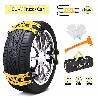 6 pcs Universal Car Snow Anti Slip Tire Chains Emergency for Cars SUV Trucks 6