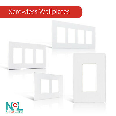 Screwless Decora Wall Switch Plate 1-4 Gang GFI Rocker Switch Plate Outlet Cover Wholesale Wall Plates