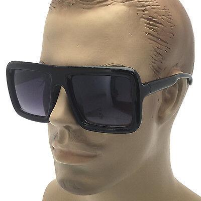 Nerd Sunglasses (Large Thick Retro Sunglasses Nerd Bold Big Oversized Square Frame Dark)