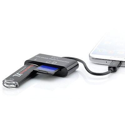 OTG Micro-USB Kartenleser für Samsung Galaxy Tab 3 4 8.0 10.1 VE Android Adapter