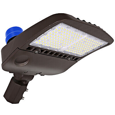 Hykolity 150w Led Parking Lot Light With Photocell Shoebox Area Light Slipfitter