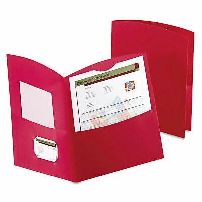 Oxford Contour 2 Pocket Folders100-sheet Capacity Red 5062558