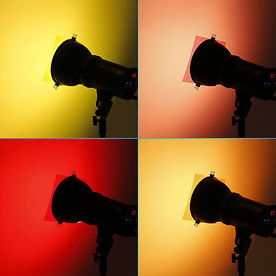 "Neewer 7""x8""/18 x20cm Transparent Color Correction Lighting Gel Filter Set x5"