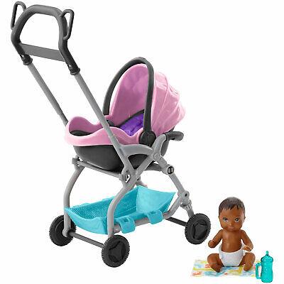 Barbie Skipper Babysitters Inc. Pink Stroller with Baby Doll by Mattel (FXG95)