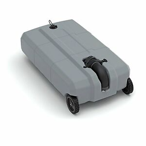 Portable Wheel 18 Gallon RV Waste Gray Black Sewer Waste Water Tank Camper Tote