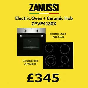 Zanussi Zpvf 4130X Electric Fan Oven and Ceramic Hob Stainless Steel