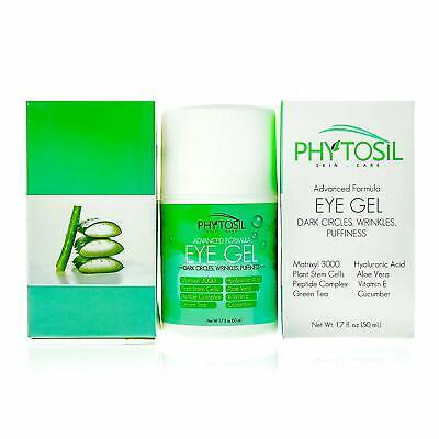 Eye Gel 100% Organic For Wrinkles, Crows Feet, Puffiness, Under Eye Bags 1.7 oz