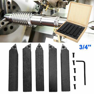 5 Pcs 34 Lathe Indexable Carbide Insert Turning Tooling Bit Holder Set Usa
