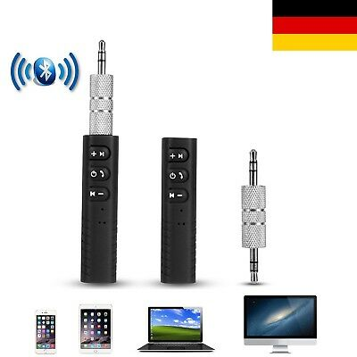 Mini Wireless Bluetooth CarKit Händefrei 3,5mm Klinke AUX Audio Receiver Adapter (Bluetooth Car Kit)