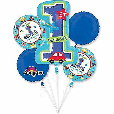 1st Year Old Boy Birthday Balloon Bouquet First Birthday Party Supplies new - 1 Year Old Birthday Party Supplies