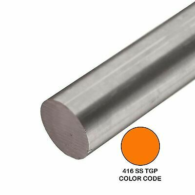 416 Tgp Stainless Steel Round Rod 0.500 12 Inch X 48 Inches
