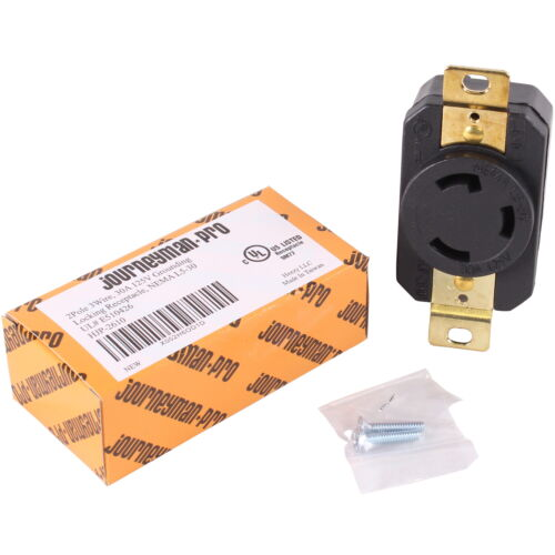 JPRO 2610 30 Amp, 125 Volt, Locking Receptacle Wall Outlet L5-30R Twist Lock