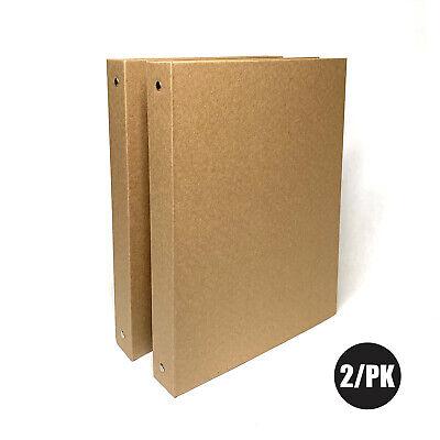 Kraft Binder 1-inch Hardcover 2 Per Pack A4 3-ring Organizer