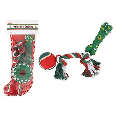 Stocking for Dogs Christmas - Chew Toy, Rope, Tennis Ball, Squeaky Toy Present