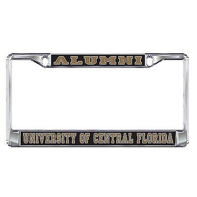 UCF CENTRAL FLORIDA Chrome ALUMNI License Plate / Tag Frame  Alumni Chrome Frame