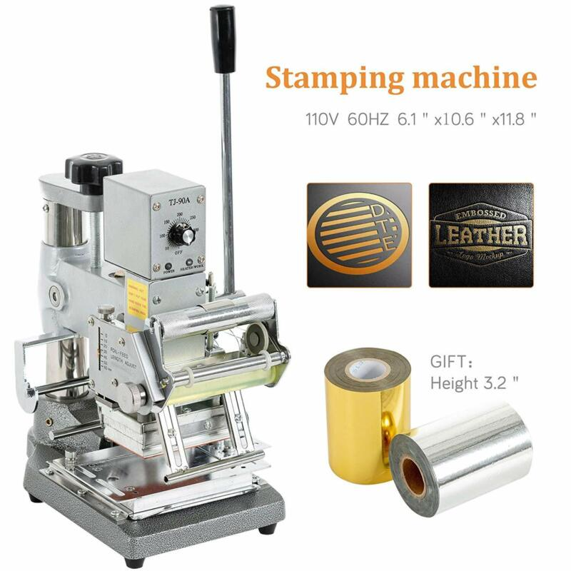"""2.4x3.5"""" Hot Foil Stamping Machine Logo Printing Embosser for PVC ID Credit Card"""